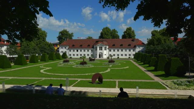 orangery in the court gardens, kempten, allgaeu, bavaria, germany - オレンジ果樹園点の映像素材/bロール