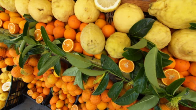 oranges and lemons near pompeii in italy. - slow motion - citrus fruit stock videos & royalty-free footage
