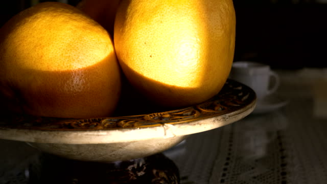 oranges in bowl - fruit bowl stock videos & royalty-free footage