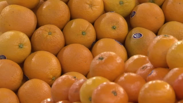 oranges cu panright across a pile of oranges - juicy stock videos & royalty-free footage
