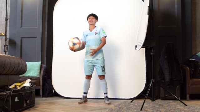 Orathai Srimanee at FIFA Women's World Cup France 2019 Team Portrait Session on June 08 2019 in Reims
