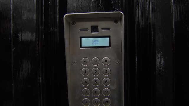 orbis office building general views england london mayfair general views orbis business intelligence office building entrance / close shot buzzer on... - intercom stock videos and b-roll footage