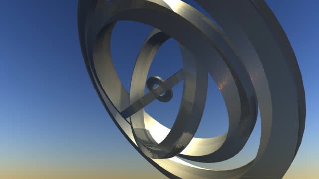 3d orbit rings animation loop - five objects stock videos & royalty-free footage