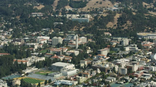 Orbital in shot of the University of California Berkeley