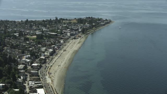 Orbital shot of the Alki Beach Park
