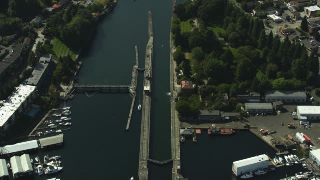Orbital shot of the Ballard Locks