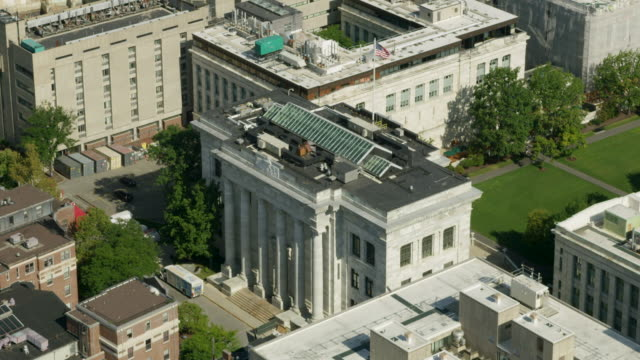 orbital shot of the harvard medical school - harvard university stock videos & royalty-free footage