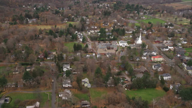 Orbiting Farmington, Connecticut. Shot in November 2011.