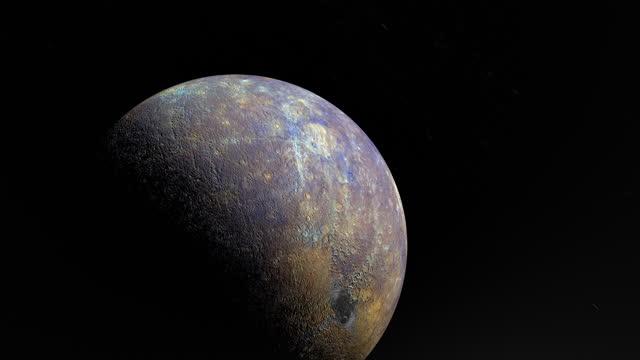 vidéos et rushes de orbiting planet mercury - système solaire