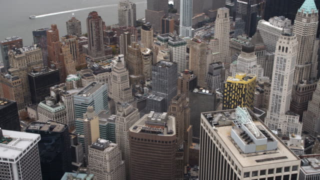 orbiting the financial district in lower manhattan. shot in 2011. - artbeats stock videos & royalty-free footage