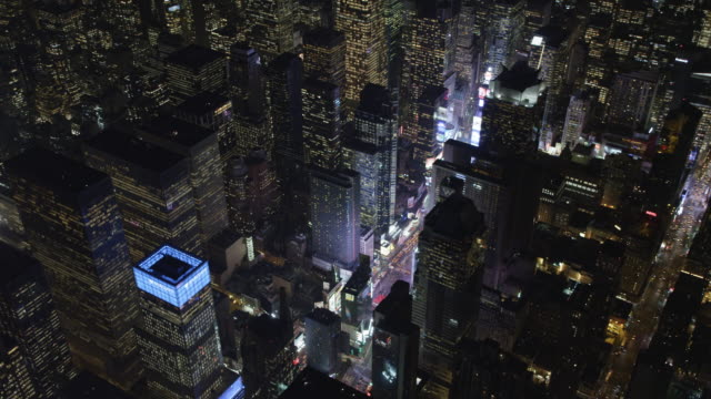Orbiting Times Square at night. Shot in 2011.