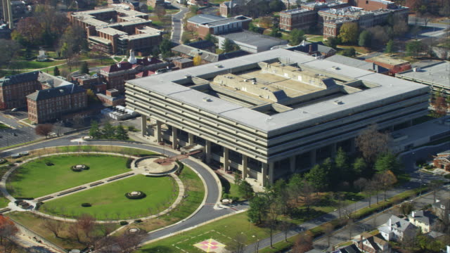 orbiting walter reed medical center, washington dc. shot in 2011. - artbeats stock videos & royalty-free footage