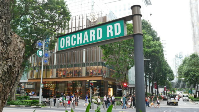 orchard road singapore - singapore stock videos & royalty-free footage