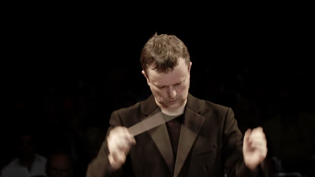 orchestra conductor portrait - conductor stock videos & royalty-free footage