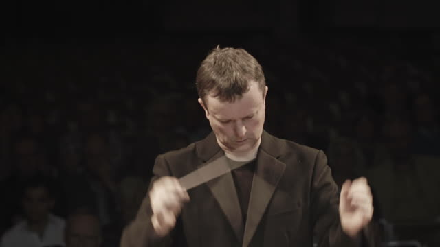 orchestra conductor portrait - conductor stock videos and b-roll footage
