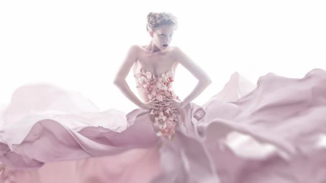 orchid-kleid - rosa stock-videos und b-roll-filmmaterial