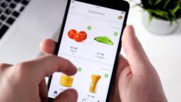 Ordering food online using smartphone app