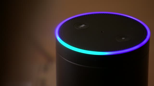 EU orders Amazon to pay 250 million euros in back taxes ENGLAND London Reporter asking questions to Alexa on Amazon Echo SOT [Reporter] Alexa how...