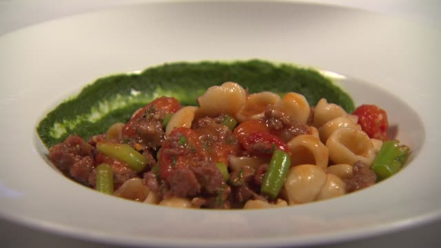 Orecchiette Pasta With Lamb Sausage at Baffo Restaurant at Eataly in Chicago on Jan 16 2015