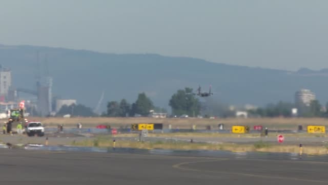 Oregon Air National Guard F15 Eagle's and F16 Fighting Falcon's taxi take off and conduct live fly sorties during a threeday Aerospace Control Alert...