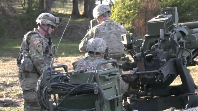 oregon army national guard soldiers from 2nd battalion 218th field artillery regiment conduct training at camp rilea warrenton oregon - national guard stock videos and b-roll footage