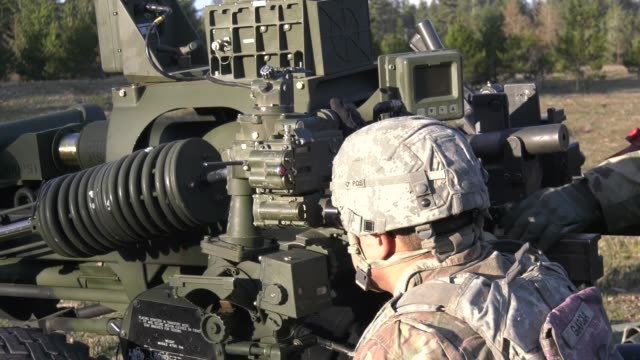 oregon army national guard soldiers from 2nd battalion 218th field artillery regiment conduct training at camp rilea warrenton oregon - regiment stock videos & royalty-free footage