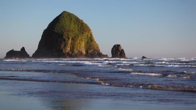 hd oregon coast - cannon beach - oregon coast stock videos & royalty-free footage