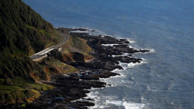 vidéos et rushes de oregon coast highway 101 - côte de l'oregon
