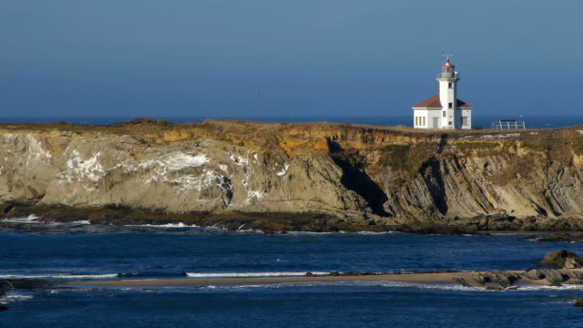 oregon coast lighthouse - oregon us state stock videos & royalty-free footage