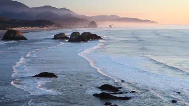 HD オレゴンコースト、太平洋の夕日