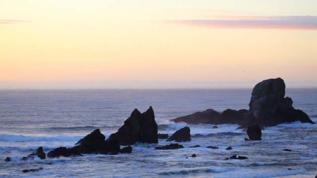 hd oregon coast sunset - oregon coast stock videos & royalty-free footage