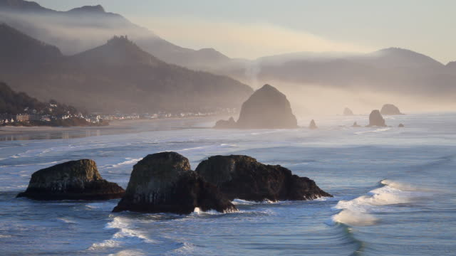 hd oregon coast - cannon beach stock videos & royalty-free footage