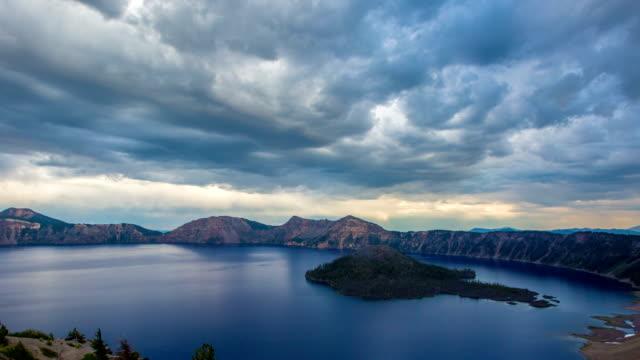 oregon crater lake - crater lake oregon stock videos & royalty-free footage