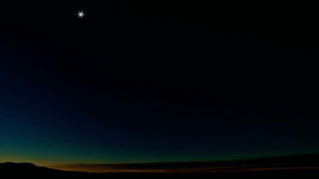Oregon Desert Landscape Darkens During Total Solar Eclipse Over Oregon 2