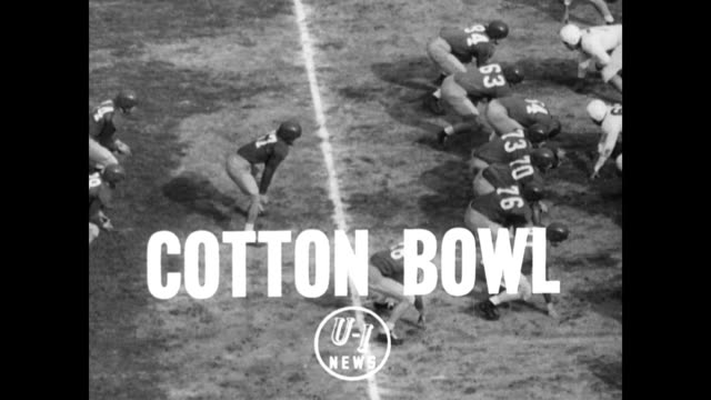 oregon ducks coached by jim aiken and the smu mustangs coached by matty bell play in the cotton bowl in front of a packed stadium / huge crowd... - 1949 stock videos & royalty-free footage