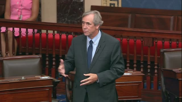 oregon senator jeff merkley asks as the senate was to adjourn after two weeks of negotiations between democrats and trump administration officials on... - {{ collectponotification.cta }} stock videos & royalty-free footage