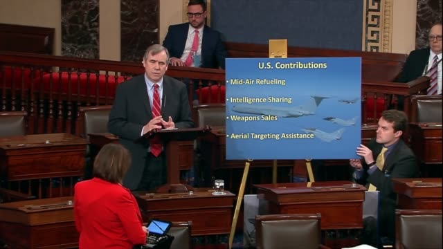 Oregon Senator Jeff Merkley says in debate on the war powers resolution to withdraw troops from Yemen that if the United States was in a minor...