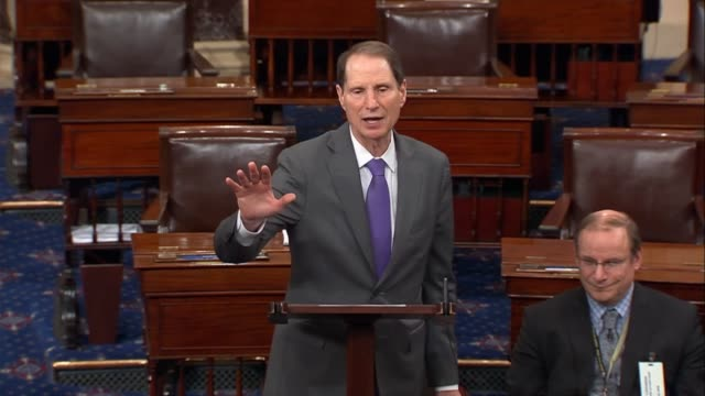 oregon senator ron wyden says after senate republicans postponed floor consideration of the better care reconciliation act of four million americans... - expense stock videos & royalty-free footage