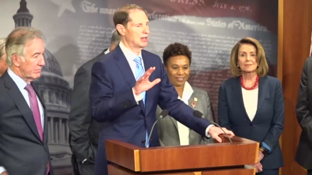 Oregon Senator Ron Wyden says at a press conference with congressional Democrats that just as Americans did not support cuts to health care led by...