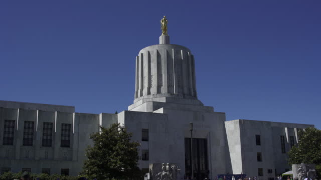 oregon state capitol building - oregon us state stock videos & royalty-free footage