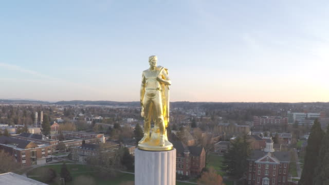 oregon state capitol pioneer (not color corrected) - セーラム点の映像素材/bロール