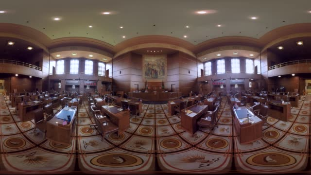oregon state capitol, senate chamber. - oregon us state stock videos & royalty-free footage