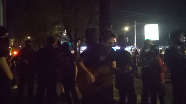 oregon state troopers and portland police clashed with protesters during a march against racial injustice and police brutality on september 4, 2020... - oregon us state stock videos & royalty-free footage