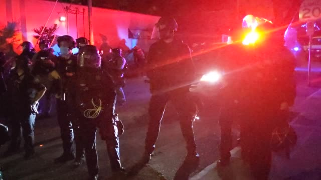 oregon state troopers and portland police clashed with protesters during a march against racial injustice and police brutality on september 4, 2020... - unfairness stock videos & royalty-free footage