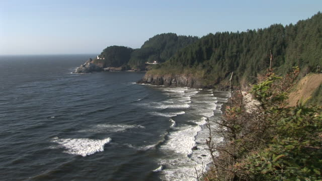 oregonview of an oregon coast in oregon pacific northwest united states - oregon coast stock videos & royalty-free footage