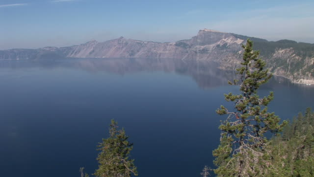 oregonview of crater lake in oregon pacific northwest united states - crater lake oregon stock videos & royalty-free footage