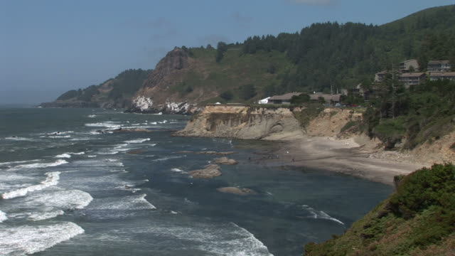 oregonview of oregon coast in pacific northwest united states - oregon coast stock videos & royalty-free footage