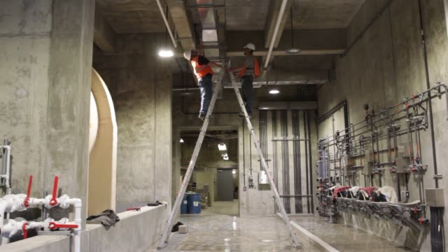 stockvideo's en b-roll-footage met orem utah us march 23rd 2015 photographer george frey various shots of construction of the utah valley water treatment plant in orem utah... - orem utah