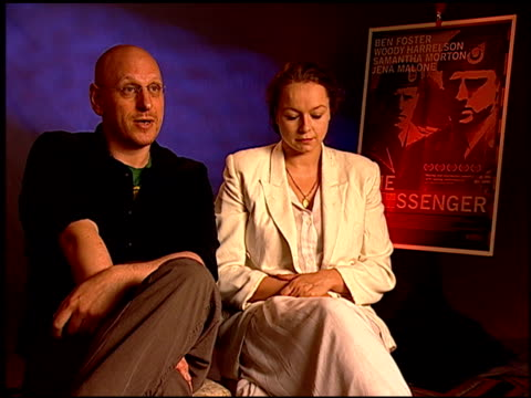 oren moverman and samantha morton on the film at the 'the messenger' junket at beverly hills ca - oren moverman stock videos and b-roll footage