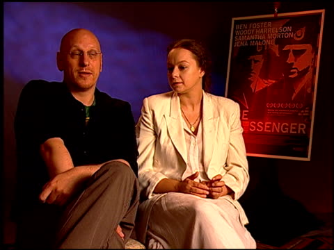 oren moverman and samantha morton on the film being about more than the casualty of war at the 'the messenger' junket at beverly hills ca - oren moverman stock videos and b-roll footage